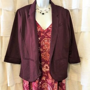 Lauren Conrad Burgundy Blazer Ladies Size 14
